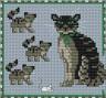 "Набор для вышивки ""Семейство кошек"" 1 шт. (""Panna"" Ж-0389) 11.3см х 10.5см"