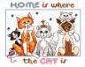 """Набор для вышивки """"Дом - это там, где коты"""" 1 шт. (""""Janlynn"""" 023-0575) 25.4см х 20.3см"""