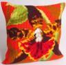 """Набор для вышивки """"Тигровая Орхидея"""" подушка 1 шт. (""""Collection D'Art"""" 5001) 40см х 40см"""