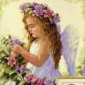 """Набор для вышивки """"Цветочный ангел"""" 1 шт. (""""Dimensions"""" 35229) 28см х 28см"""
