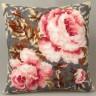 """Набор для вышивки """"Старинная роза"""" подушка 1 шт. (""""Collection D'Art"""" 5052) 40см х 40см"""