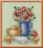 """Набор для вышивки """"Цветы в кувшине"""" 1 шт. (""""Panna"""" Н-0513) 13.5см х 13.5см"""