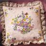 """Набор для вышивки """"Полевые цветы и бабочки"""" подушка 1 шт. (""""Janlynn"""" 004-0764) 35.6см х 35.6см"""