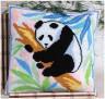 """Набор для вышивки """"Панда"""" подушка 1 шт. (""""Panna"""" ПД-599) 36см х 36см"""