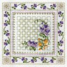 """Набор для вышивки """"Пестрые цветы"""" 1 шт. (""""Panna"""" Ц-0575) 25.7см х 25.7см"""