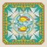 """Набор для вышивки """"Композиция из двух рыб"""" Подушка 1 шт. (""""Panna"""" ПД-0324) 35см х 35см"""