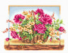 "Набор для вышивки ""Корзина с розами"" 1 шт. (""Panna"" Ц-0114) 36.5см х 25.5см"