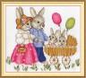 """Набор для вышивки """"Счастливая семейка"""" 1 шт. (""""Panna"""" Д-0553) 23см х 20см"""