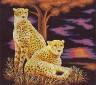 """Набор для вышивки """"Гепарды"""" 1 шт. (""""Panna"""" Ж-0746) 33см х 31см"""