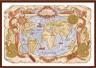 """Набор для вышивки """"Старинная карта"""" 1 шт. (""""Panna"""" МО-0986) 40см х 27см"""