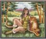 """Набор для вышивки """"Девушка с леопардом"""" 1 шт. (""""Panna"""" Ф-0748) 32см х 25.5см"""
