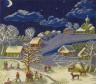 """Набор для вышивки """"Рождественская ночь"""" 1 шт. (""""Panna"""" ДЕ-1113) 32см х 29см"""