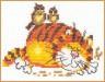 """Набор для вышивки """"Ленивый кот"""" 1 шт. (""""Алиса"""" 0-01) 11см х 9см"""