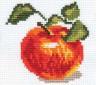 """Набор для вышивки """"Яблочко"""" 1 шт. (""""Алиса"""" 0-49) 8см х 8см"""