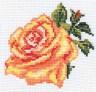 "Набор для вышивки ""Роза"" 1 шт. (""Алиса"" 0-41) 10см х 10см"