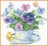 """Набор для вышивки """"Утренние цветы"""" 1 шт. (""""Алиса"""" 2-01) 24см х 24см"""