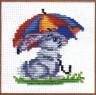 """Набор для вышивки """"Зайка под зонтом"""" 1 шт. (""""Инкомтех"""") 11см х 12см"""