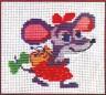 """Набор для вышивки """"Мышка в бантах"""" 1 шт. (""""Инкомтех"""") 12см х 18см"""
