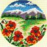"""Набор для вышивки """"Цветочная поляна"""" 1 шт. (""""Кларт"""" 8-069) 13см х 13см"""