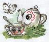 """Набор для вышивки """"Чайничек"""" 1 шт. (""""Кларт"""" 6-077) 7см х 9см"""