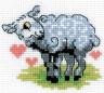 """Набор для вышивки """"Овечка-сердечко"""" 1 шт. (""""Кларт"""" 6-087) 7см х 8см"""