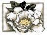 """Набор для вышивки """"Белый шиповник"""" 1 шт. (""""Кларт"""" 6-089) 7.5см х 9.5см"""