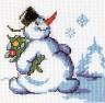 """Набор для вышивки """"Снеговик с ёлкой"""" 1 шт. (""""Кларт"""" 6-079) 12см х 13см"""