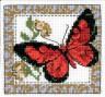 """Набор для вышивки """"Бабочка бордовая"""" 1 шт. (""""Кларт"""" 5-057) 9см х 10см"""