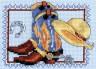 """Набор для вышивки """"Сапожки и желтая шляпа"""" 1 шт. (""""Кларт"""" 7-098) 9см х 13см"""