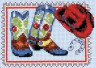 """Набор для вышивки """"Сапожки и красная шляпа"""" 1 шт. (""""Кларт"""" 7-099) 9см х 13см"""
