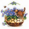 """Набор для вышивки """"Цветы и птичка"""" 1 шт. (""""Кларт"""" 3-041) 12см х 13см"""