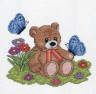 """Набор для вышивки """"Плюшевый медвежонок"""" 1 шт. (""""Кларт"""" 8-046) 15см х 17см"""