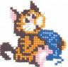 """Набор для вышивки """"Кошка с клубочком"""" 1 шт. (""""РС студия"""" 523) 8см х 8см"""