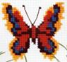 """Набор для вышивки """"Бабочка красно-желтая"""" 1 шт. (""""РС студия"""" 530) 7см х 7.5см"""