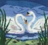 "Набор для вышивки ""Лебеди"" 1 шт. (""Астра"" 025) 17см х 18см"
