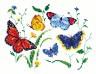 """Набор для вышивки """"Танец бабочек-1"""" 1 шт. (""""Чудесная Игла"""" 42-01) 19см х 14см"""