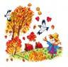"""Набор для вышивки """"Рыжая осень"""" 1 шт. (""""Чудесная Игла"""" 37-03) 16см х 16см"""