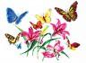 """Набор для вышивки """"Лилии и бабочки"""" 1 шт. (""""Чудесная Игла"""" 42-05) 32см х 26см"""