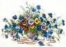 """Набор для вышивки """"Цветы лета"""" 1 шт. (""""Чудесная Игла"""" 40-11) 38см х 28см"""