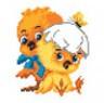 """Канва с рисунком """"Цыплята"""" 1 шт. (932) 16см х 20см"""