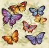 """Набор для вышивки """"Обилие бабочек"""" 1 шт. (""""Dimensions"""" 35145) 28см х 28см"""