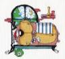 "Набор для вышивки ""Зимняя спячка"" 1 шт. (""Кларт"" 8-086) 17см х 18см"