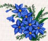 """Набор для вышивки """"Синие цветы"""" 1 шт. (""""М.П.Студия"""" БК-20) 20см х 25см"""