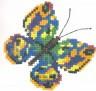 """Набор для вышивки """"Бабочка зеленая"""" 1 шт. (""""РС студия"""" С-126) 11см х 11см"""