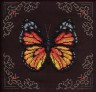 """Набор для вышивки """"Рыжая бабочка"""" 1 шт. (""""Кларт"""" 8-113) 19,5см х 19,5см"""