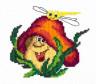 """Набор для вышивки """"Веселый грибочек"""" 1 шт. (""""Чудесная Игла"""" 26-20) 11см х 10см"""