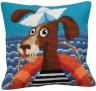 """Набор для вышивки """"Моряк на палубе"""" подушка 1 шт. (""""Collection D'Art"""" 5155) 40см х 40см"""