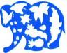 """Трафарет фигурный """"Слоник в джунглях"""" 1 шт. (""""Луч"""" 17С 1145-08)"""