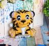 Набор для создания игрушки из фетра Тигрёнок блистер 1 шт. (Школа талантов 2391198) 23.5см х 15.2см х 0.5см 45 гр.