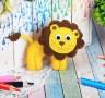 Набор для создания игрушки из фетра Львёнок блистер 1 шт. (Школа талантов 2391195) 23.5см х 15.2см х 0.5см 45 гр.